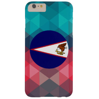 American Samoa flag circle on modern bokeh Barely There iPhone 6 Plus Case