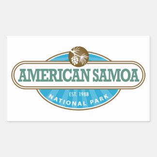 American Samoa National Park Rectangular Sticker