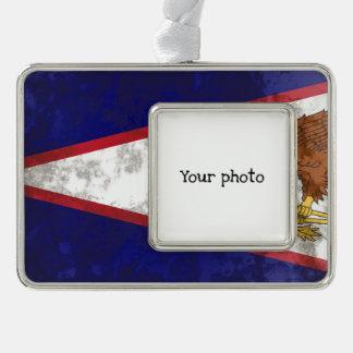 American Samoa Silver Plated Framed Ornament