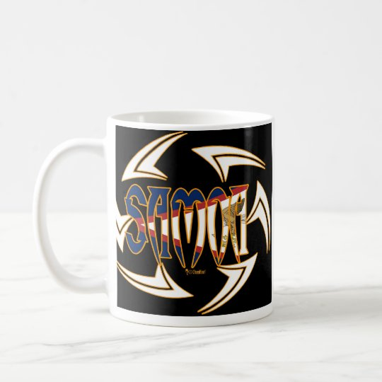 American Samoa Tribal Black Coffee Mug