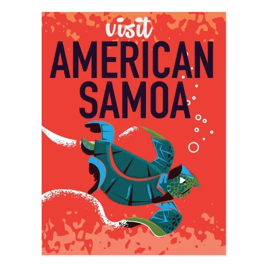 American Samoa Vintage Travel poster Postcard