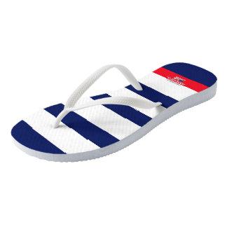 American Samuels Striped Flip Flops