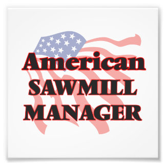 American Sawmill Manager Photograph