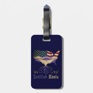 American Scottish Roots Luggage Tag