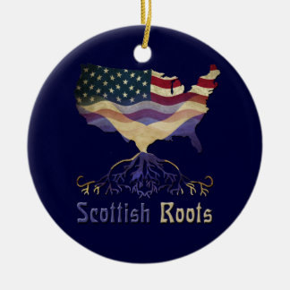 American Scottish Roots Ornament
