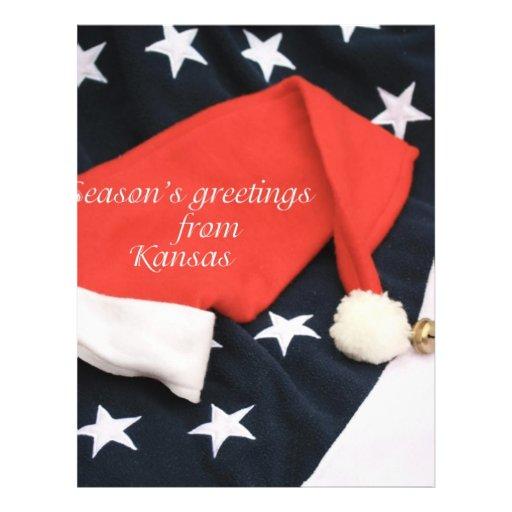 American season's greetings Kansas Custom Flyer