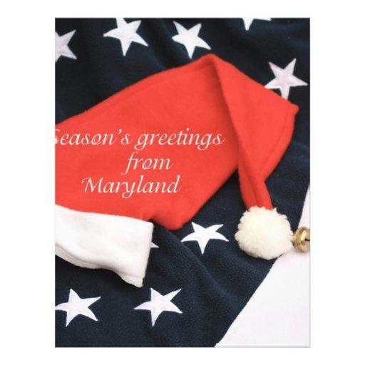American season's greetings Maryland Flyer Design
