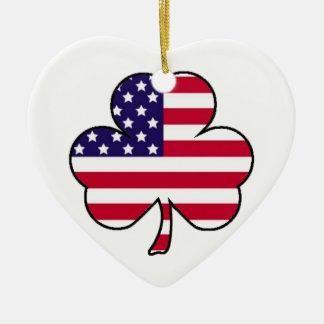 American Shamrock Christmas Ornament