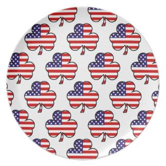 American Shamrocks Plates
