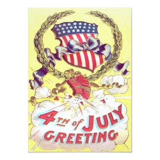American Shield Firecrackers Fireworks 13 Cm X 18 Cm Invitation Card