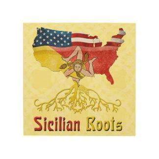 American Sicilian Roots Wood Prints