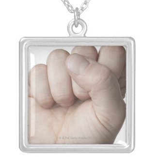 American Sign Language 10 Silver Plated Necklace