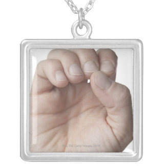 American Sign Language 11 Silver Plated Necklace