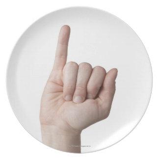 American Sign Language 13 Plate