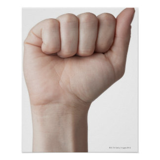 American Sign Language 26 Poster