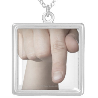 American Sign Language 27 Silver Plated Necklace