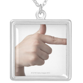 American Sign Language 28 Silver Plated Necklace