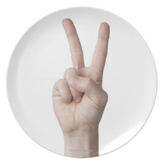 American Sign Language 3 Plate