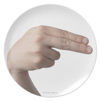 American Sign Language 4 Plate