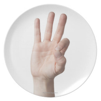 American Sign Language 8 Plate