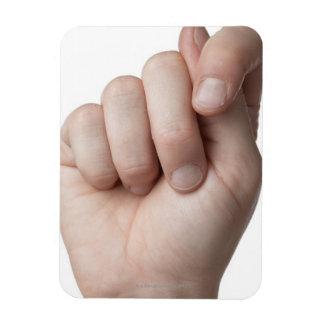 American Sign Language 9 Rectangular Photo Magnet