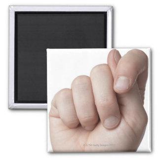 American Sign Language 9 Square Magnet