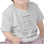 American Sign Language Alphabet and Numbers T Shirt