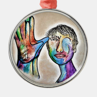 American Sign Language GRANDFATHER Silver-Colored Round Decoration