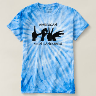 American Sign Language Tie Dye Tee