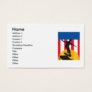 American Skateboard Business Card