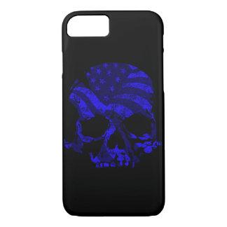American Skull Blue iPhone 8/7 Case