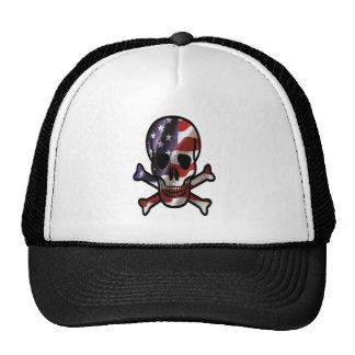 American Skull cross bones Hats