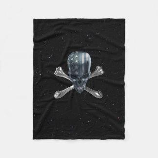 American Skull Small Fleece Blanket