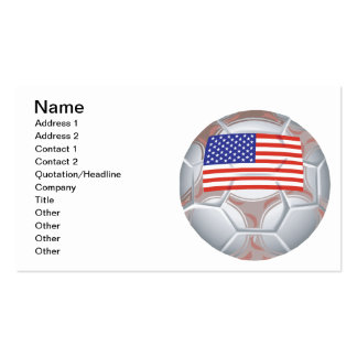 American Soccer Ball Pack Of Standard Business Cards
