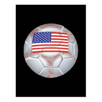 American Soccer Ball Postcard