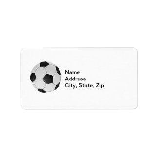 American Soccer or Association Football Address Label