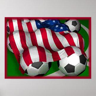 American Soccer Poster