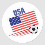 American Soccer Team Classic Round Sticker