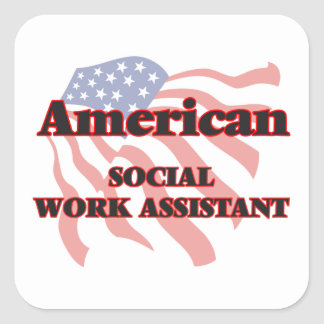 American Social Work Assistant Square Sticker