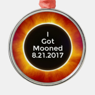American Solar Eclipse Got Mooned August 21 2017.j Christmas Ornament