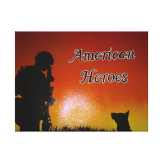 American Soldier Canvas Print