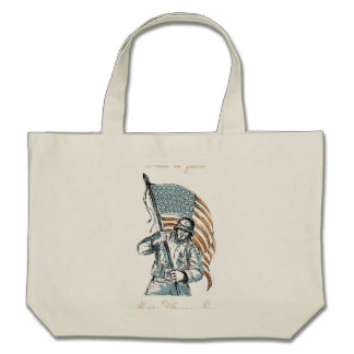 American Soldier Happy Veterans Day Greeting Card Bag