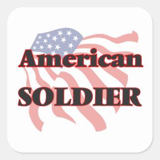 American Soldier Square Sticker