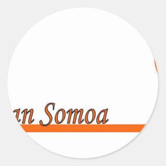 American Somoa Round Stickers