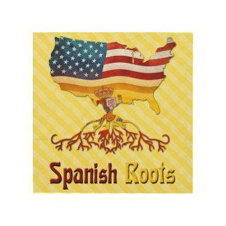 American Spanish Roots Wood Print