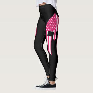American Spartan In Pink Leggings