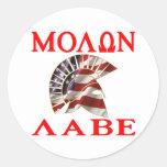American Spartan Molon Labe Stickers