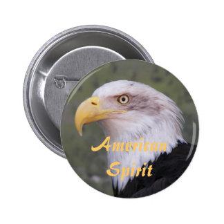 American Spirit Bald Eagle Photo 6 Cm Round Badge