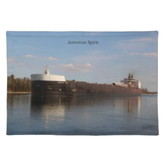 American Spirit cloth placemat