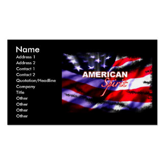 American Spirit Motorcycles Business Card